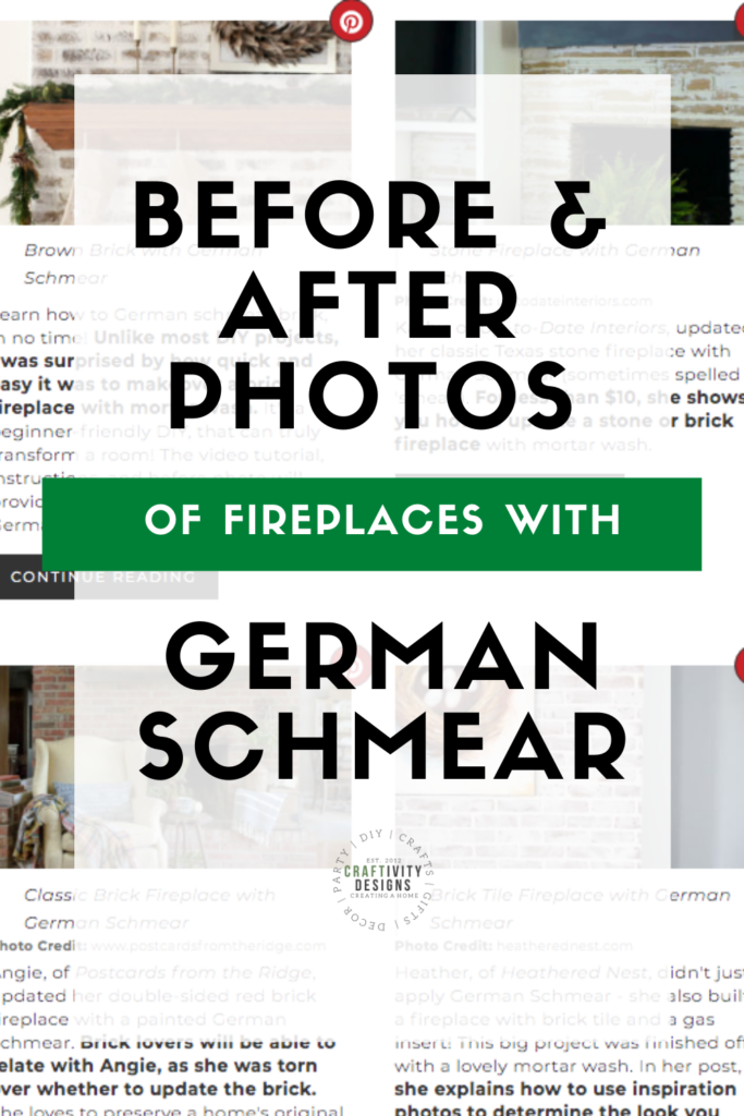 Before and After Photos of Fireplaces with German Schmear