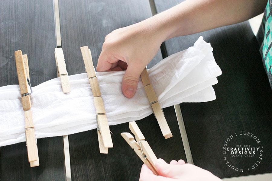 folding technique for shibori tablecloth