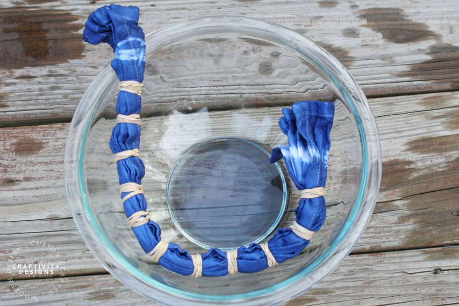 indigo dye for shibori tablecloth