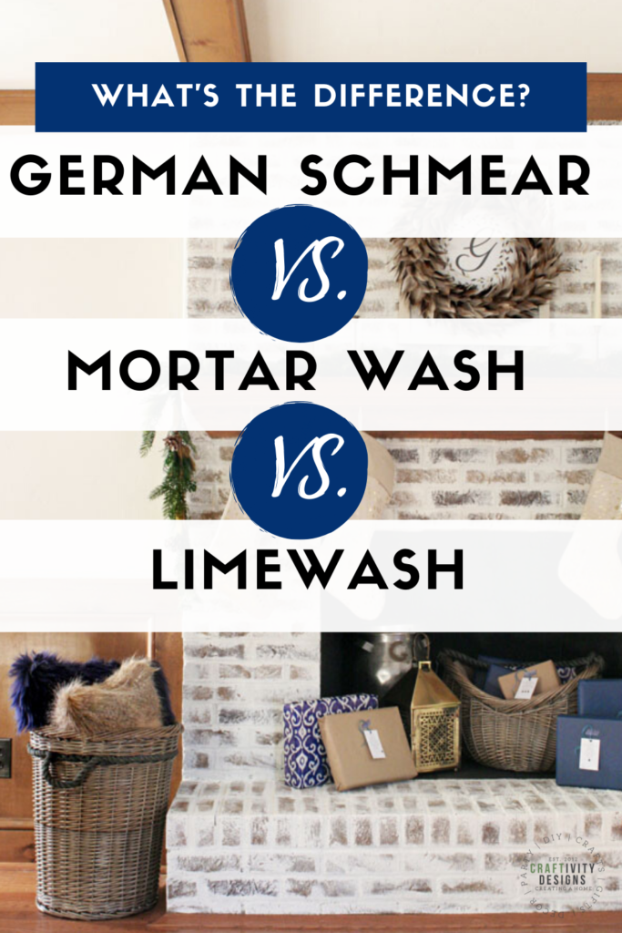 What is the difference between German Smear, Mortar Wash, and Limewash?