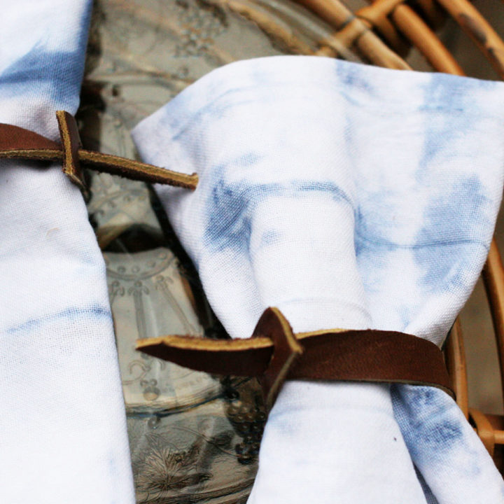 How to Make Shibori Cloth Napkins
