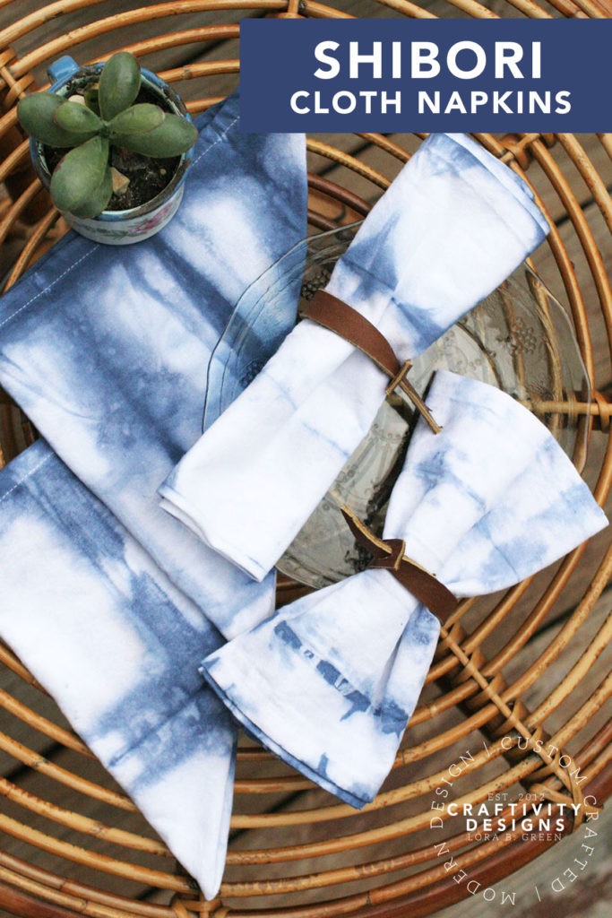 How to Make Shibori Cloth Napkins by Craftivity Designs