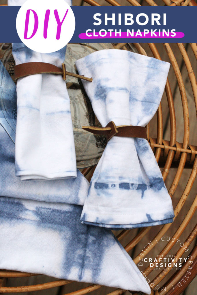 DIY Shibori Cloth Napkins by Craftivity Designs