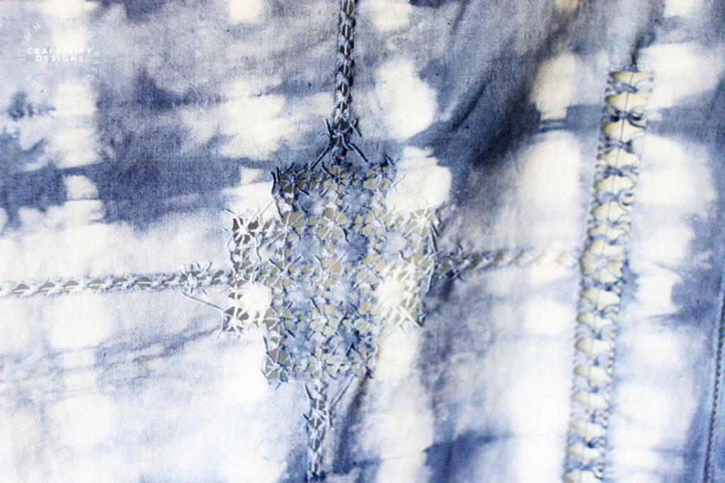 vintage tablecloth tie dye shibori