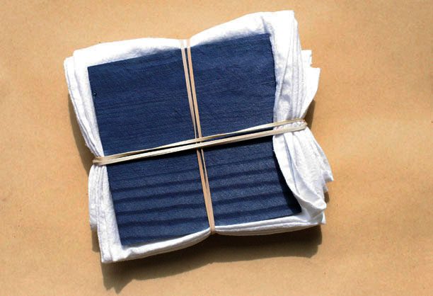 Shibori Technique with Blocks and Rubberbands