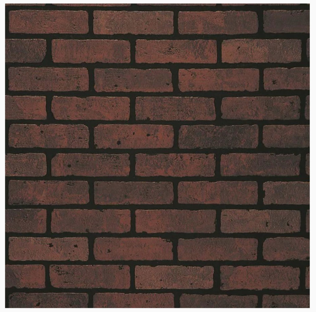 brick wall panel from Lowes