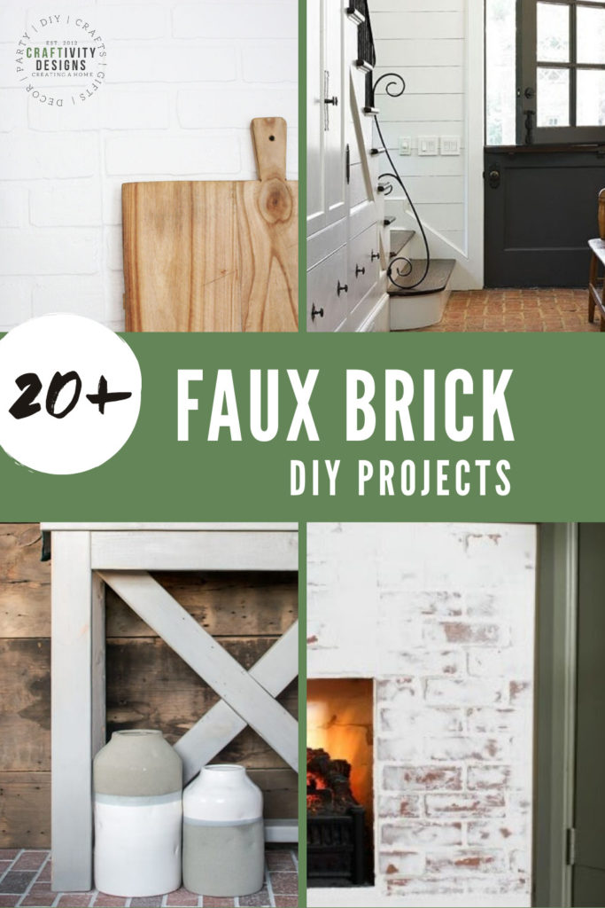 20+ faux brick diy projects