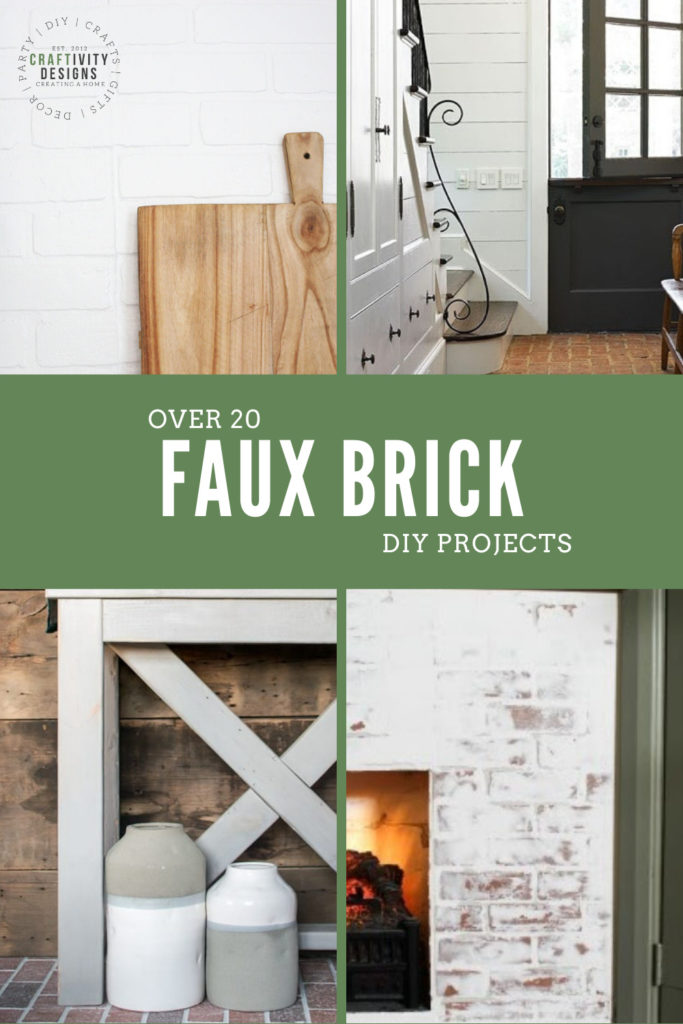 over 20 faux brick diy projects