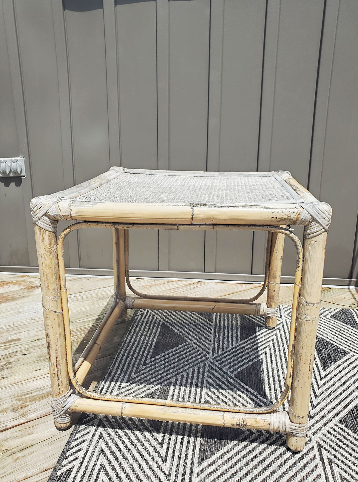 bamboo furniture damaged from rain and sun, how to repair rattan