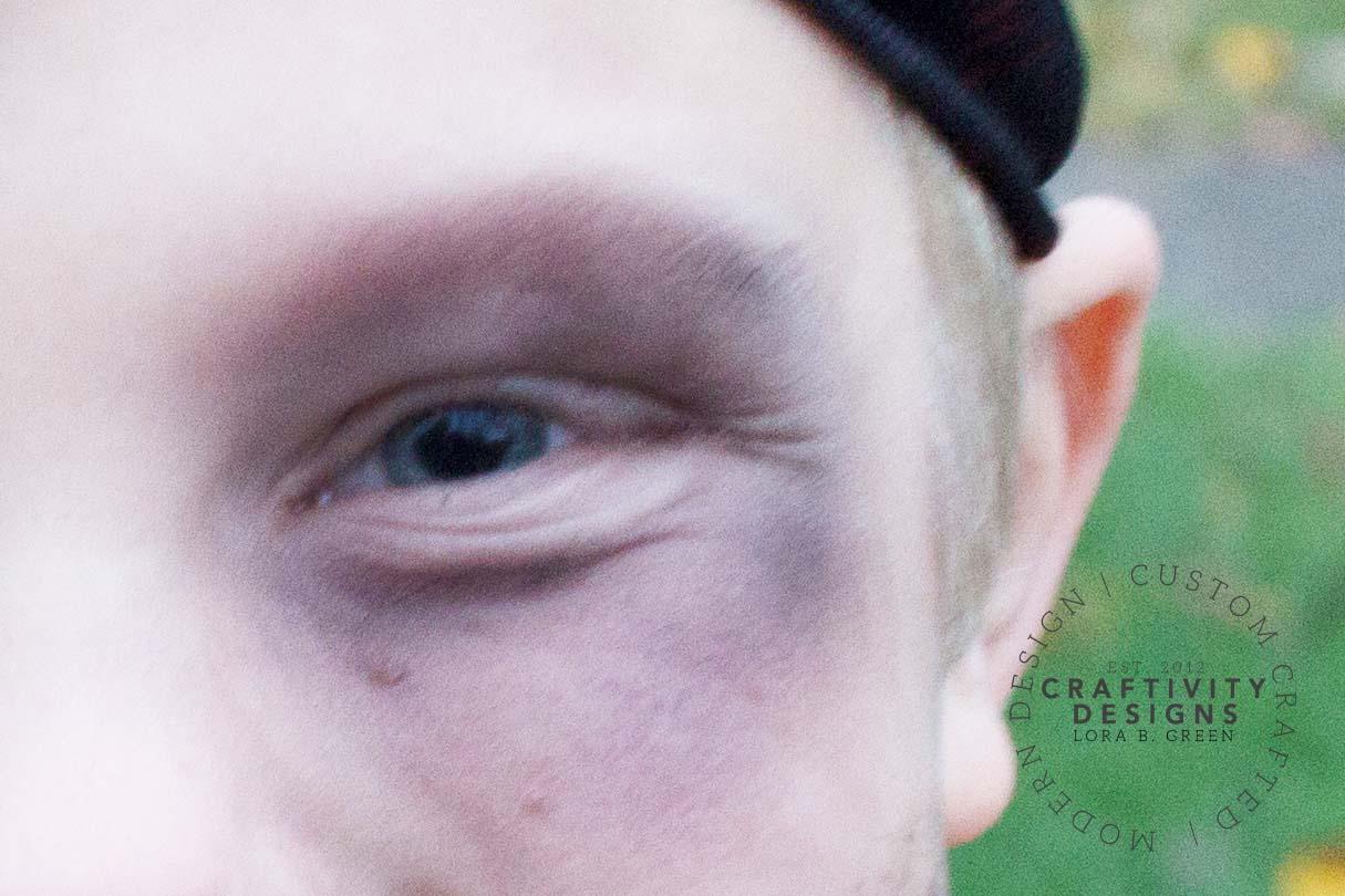 black eye makeup for pirate makeup