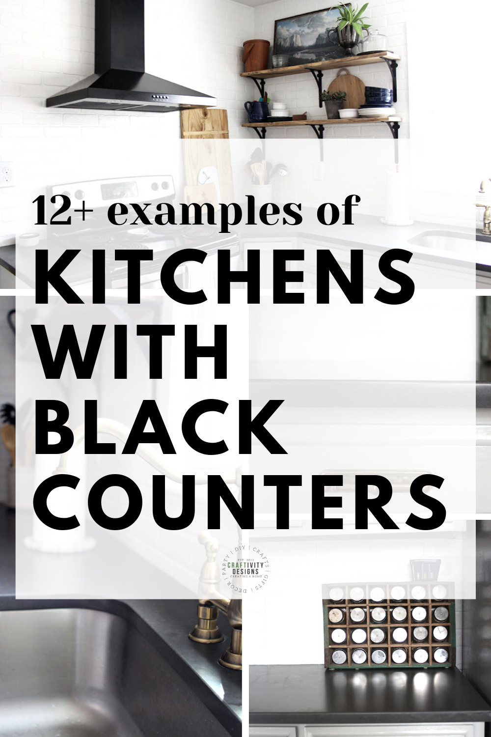 9+ Examples of Black Kitchen Countertops in Beautiful Homes ...