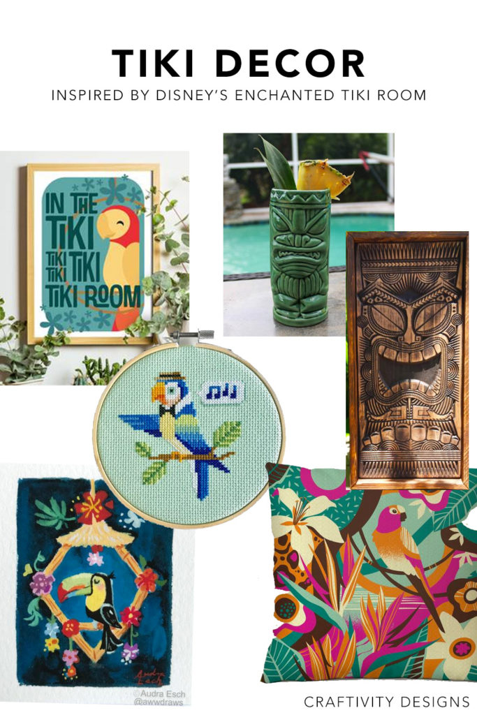 Tiki Decor Ideas inspired by Walt Disney's Enchanted Tiki Room