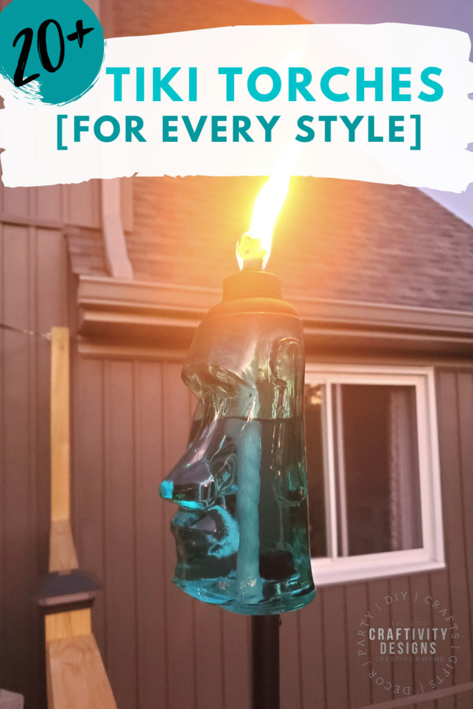 20+ tiki torches for every style featuring glass tiki torch