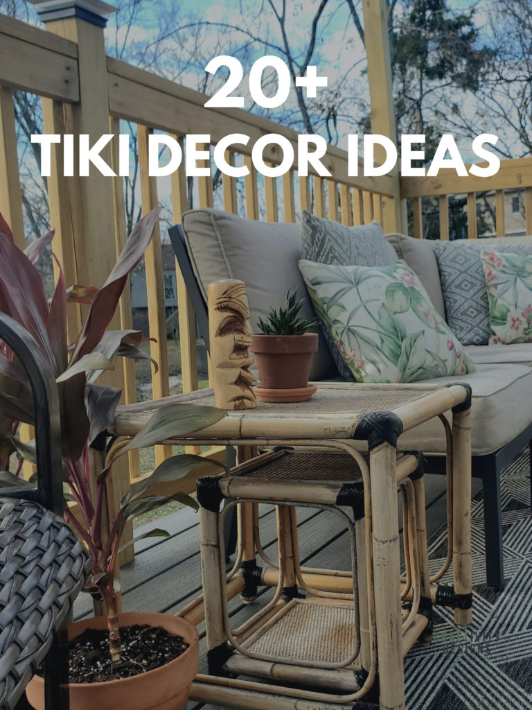 20+ Tiki Decor Ideas with photo of Tiki Deck Decor