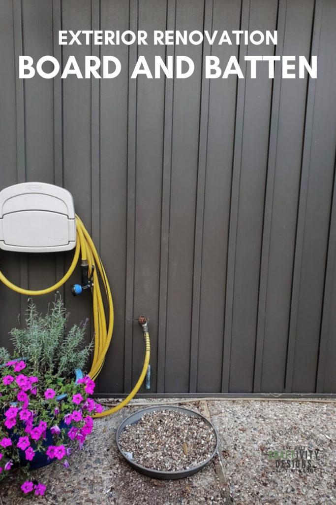 board and batten vertical siding exterior renovation