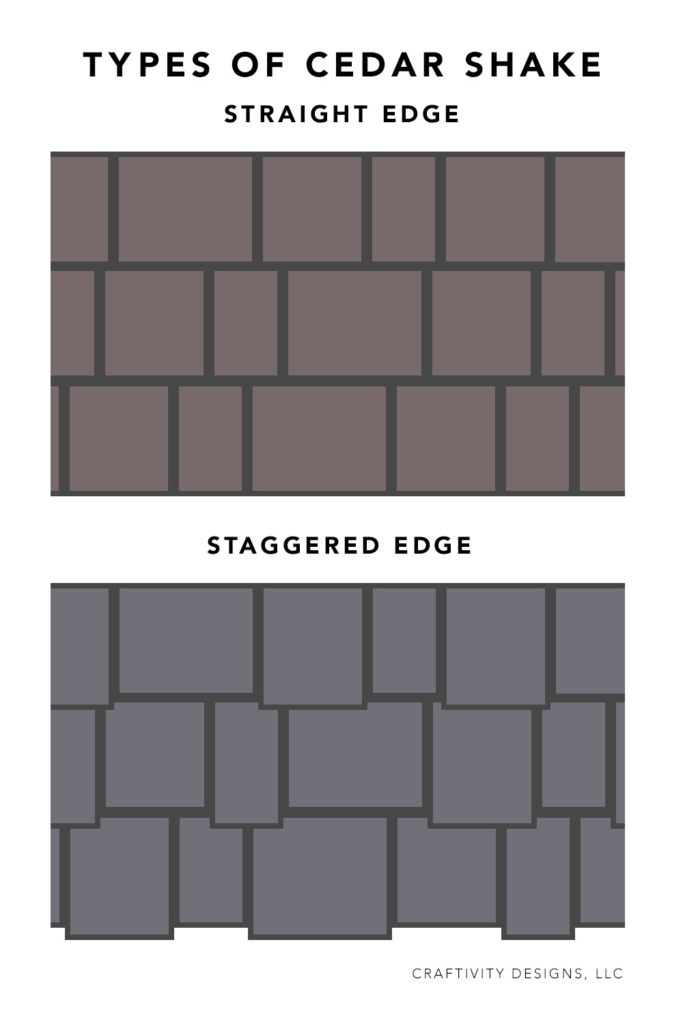 Types of Cedar Shake - Straight Edge Shake vs Staggered Edge Shake