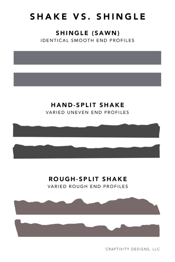 Shake vs. Shingle - Hand Split Shake vs. Rough Split Shake