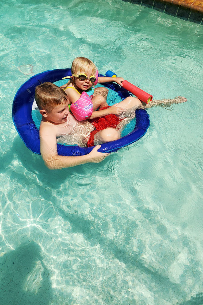 Kids in Pool and Windsor at Westside Villa Review