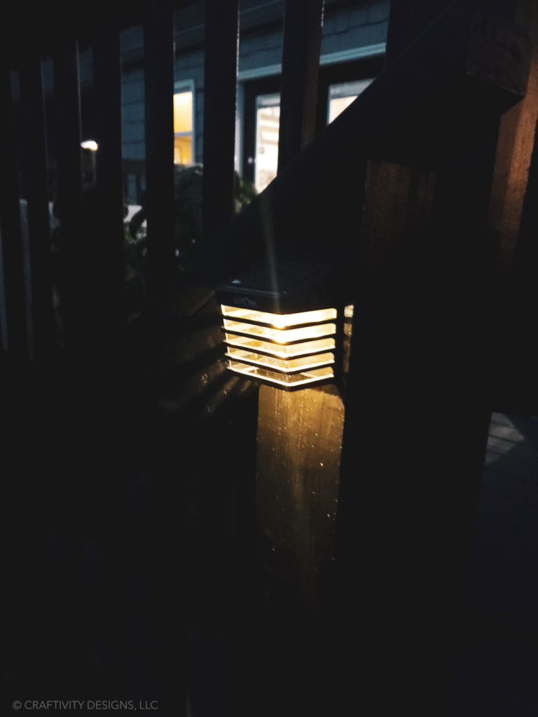 solar light for deck stairs deck rails