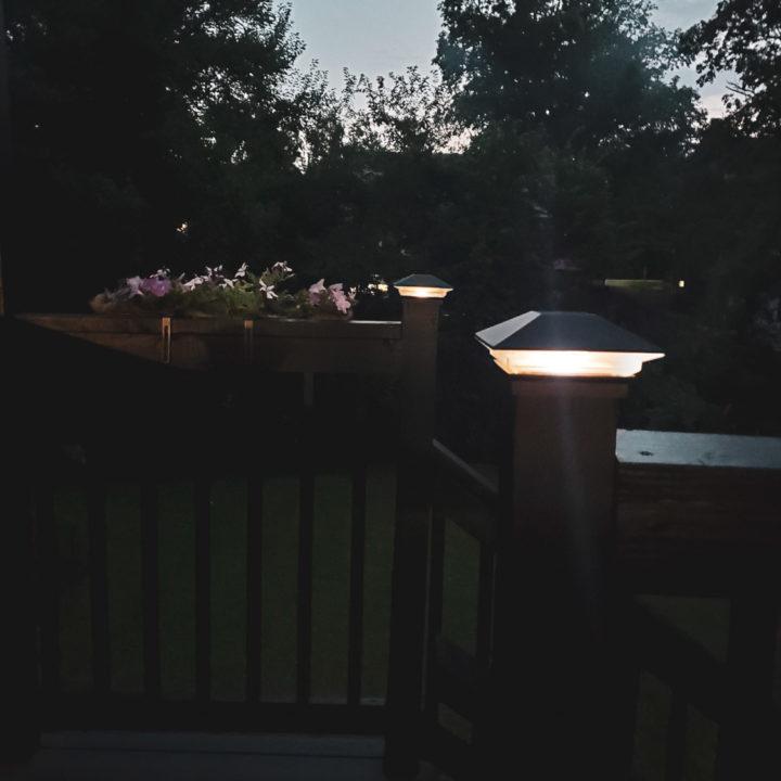 solar light for post caps