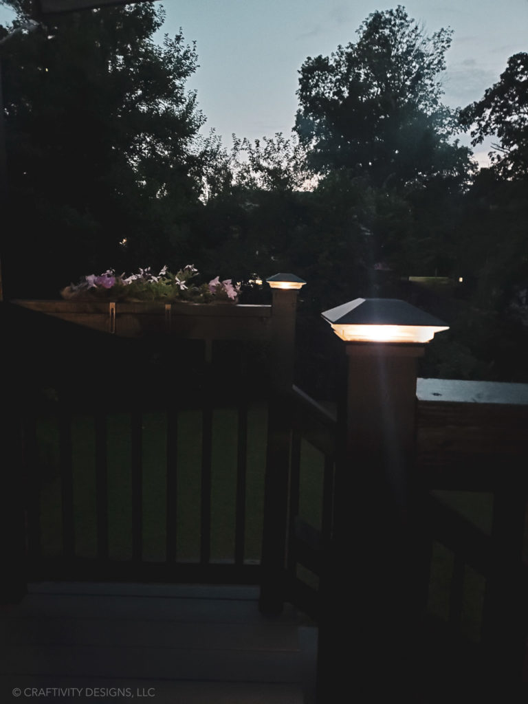 solar lights for post caps