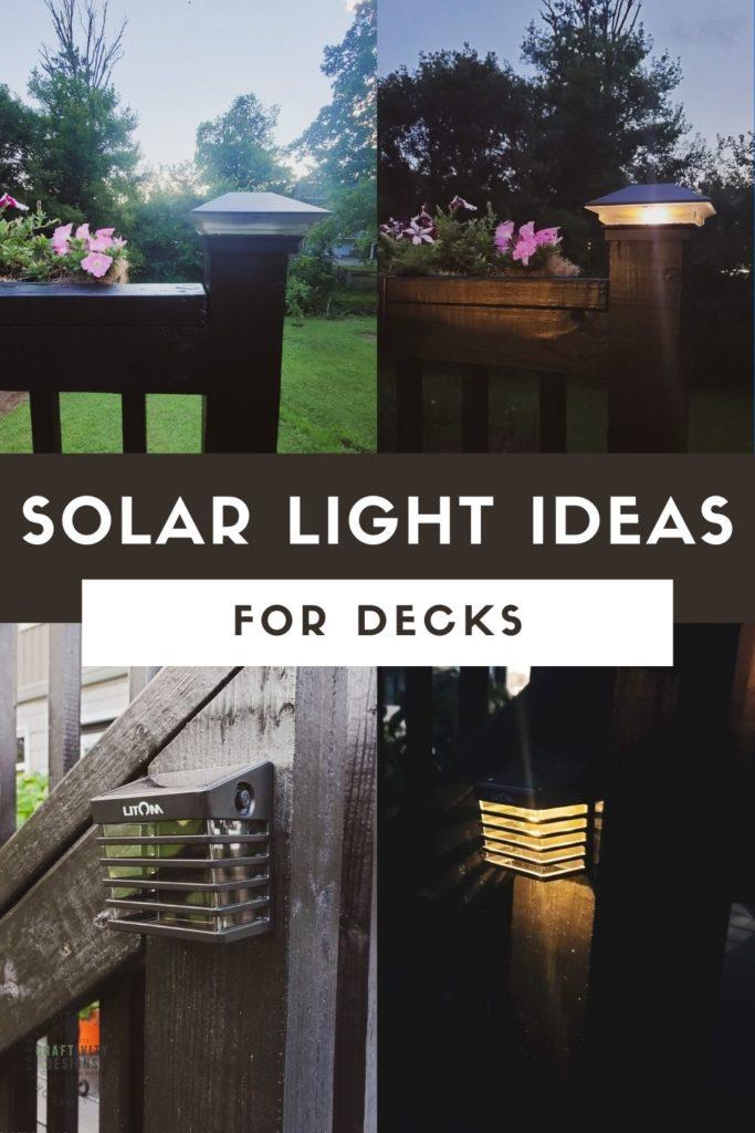 solar light ideas for decks