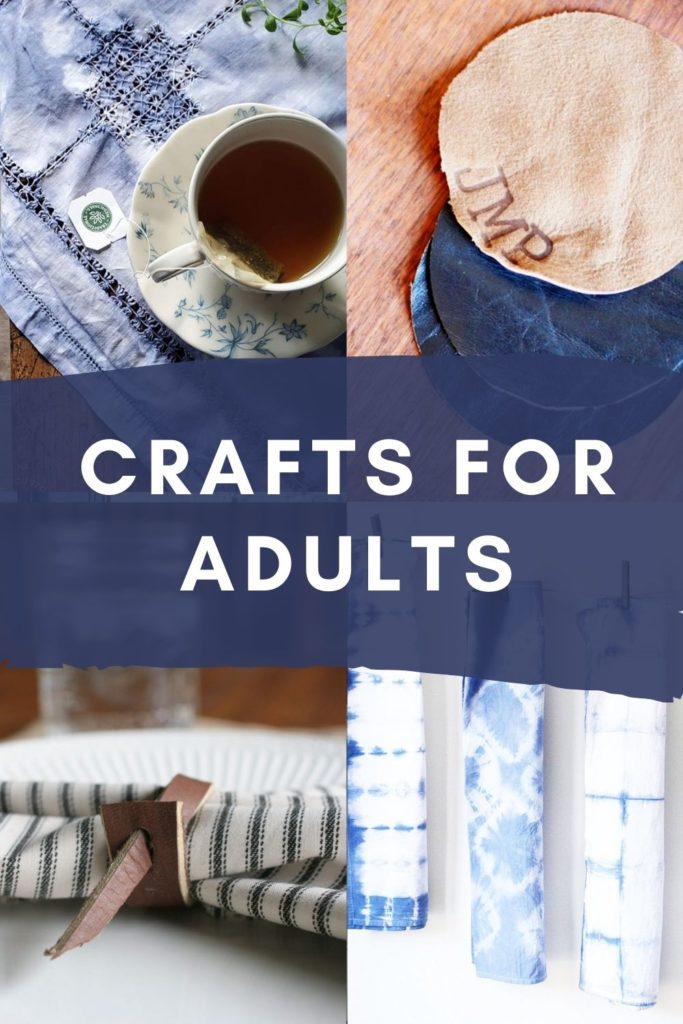 crafts for adults - shibori crafts, leather crafts