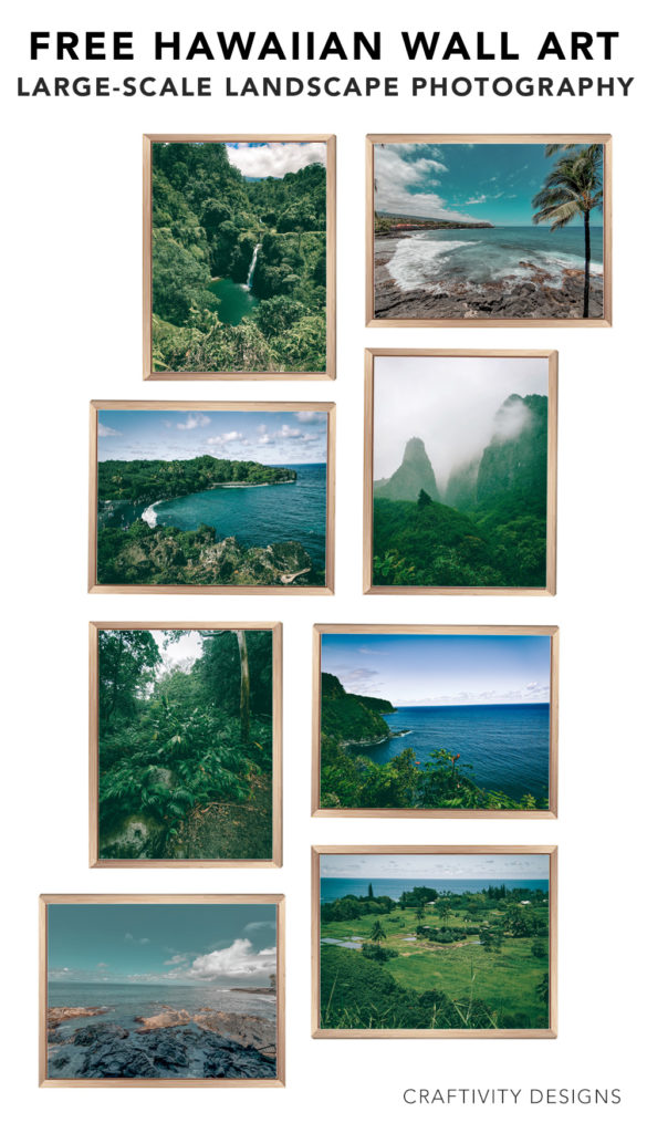8 Free Hawaii Landscape and Beach Prints, Large-Scale Photography Art