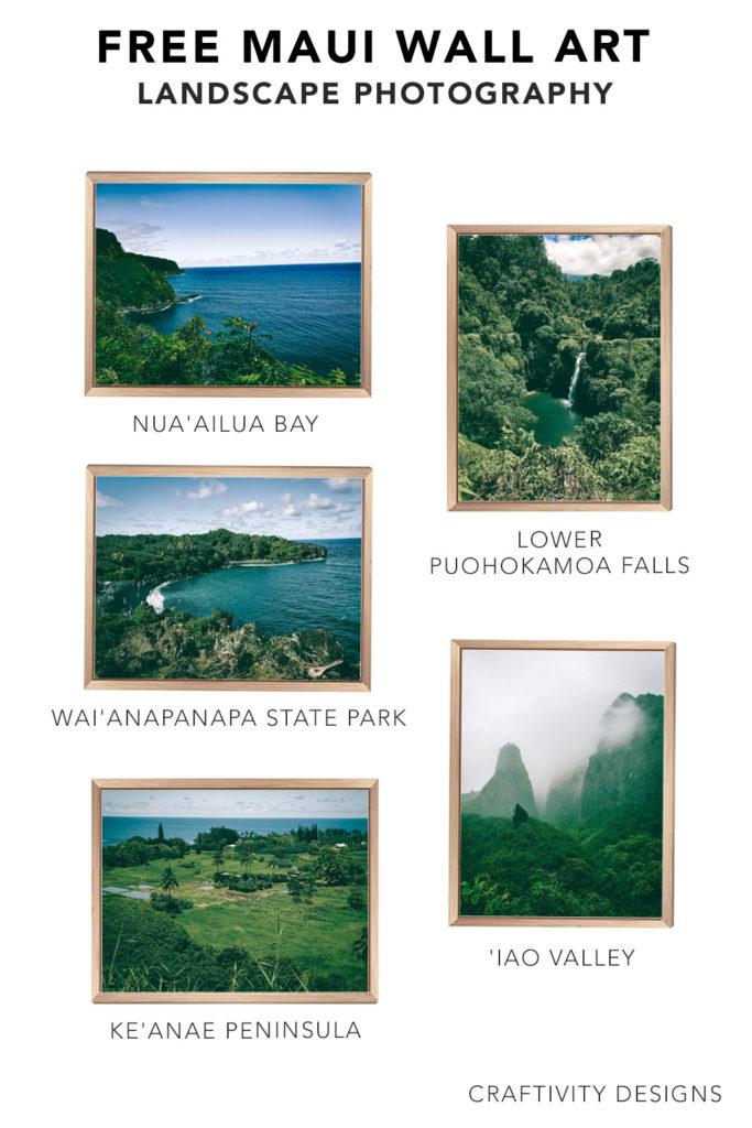 Maui Art Prints - 5 Free Hawaii Printables