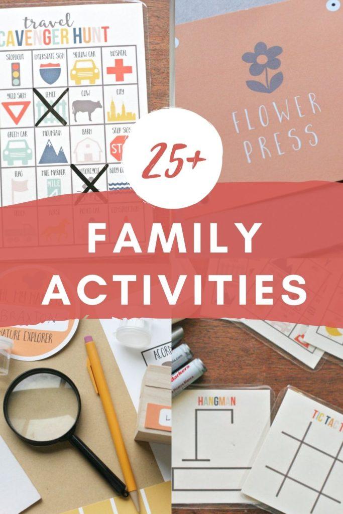 25+ Family Activities