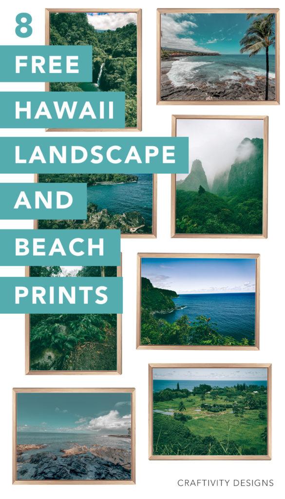 8 Free Hawaii Landscape and Beach Prints