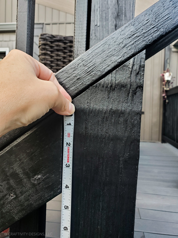 measure deck rail to install solar lights