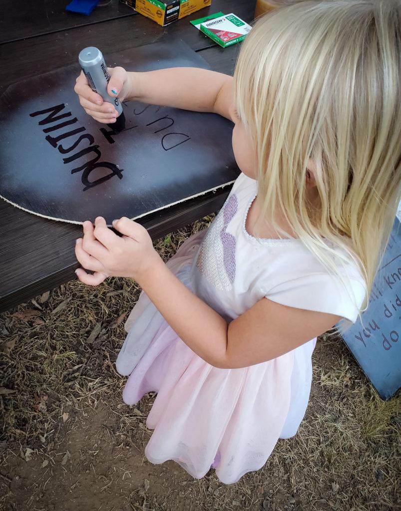 DIY halloween tombstones for kids