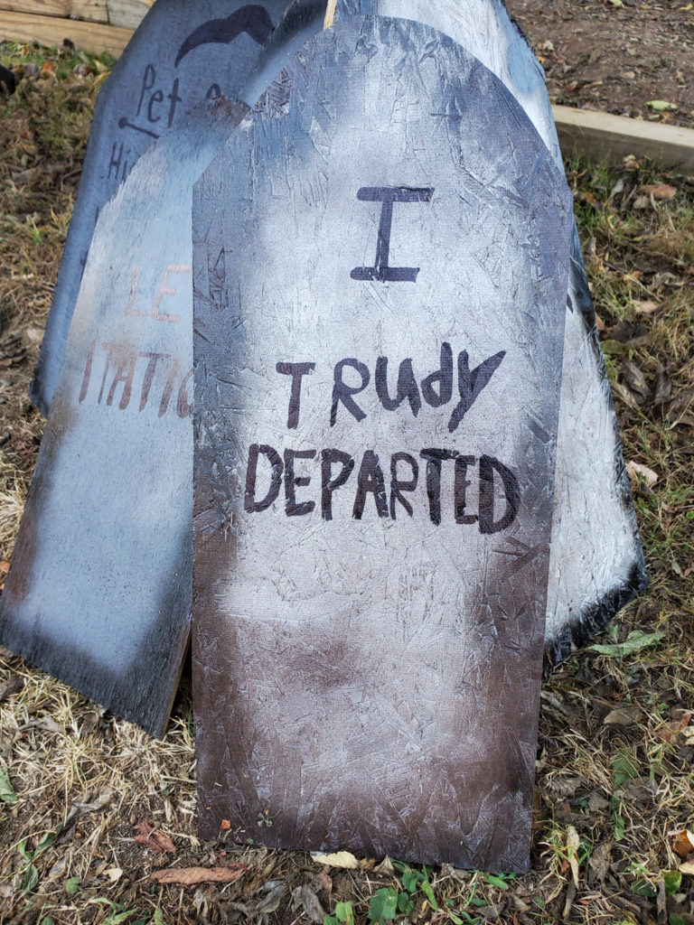 tombstone saying - i trudy departed