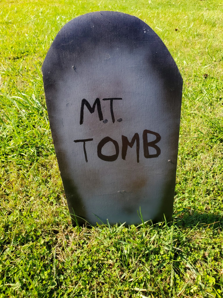 tombstone saying - m.t. tomb
